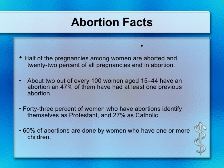 reliable abortion facts The abortion pill: medical abortion with mifepristone and misoprostol mifepristone have the support you need such as access to reliable transportation.