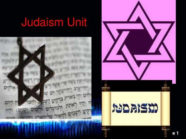 Judaism Unit<br />