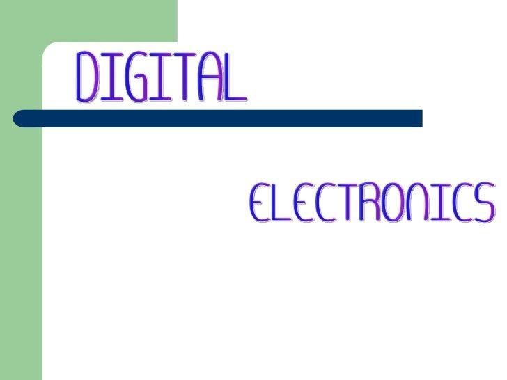ELECTRONICS DIGITAL