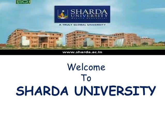 Sharda University, Leading Educational Institution