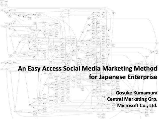 An Easy Access Social Media Marketing Method for Japanese Enterprise Gosuke Kumamura Central Marketing Grp. Microsoft Co.,...