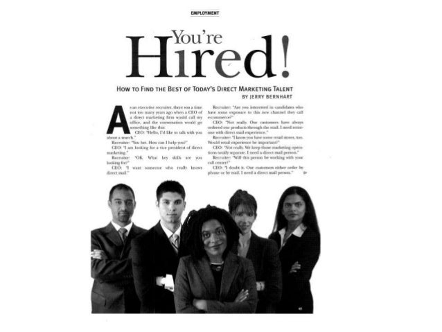 You're Hired! by Jerry Bernhart