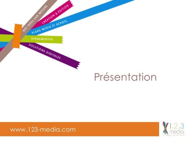 www.123-media.com Présentation