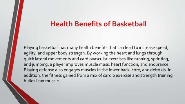 Benefits of playing basketball essay