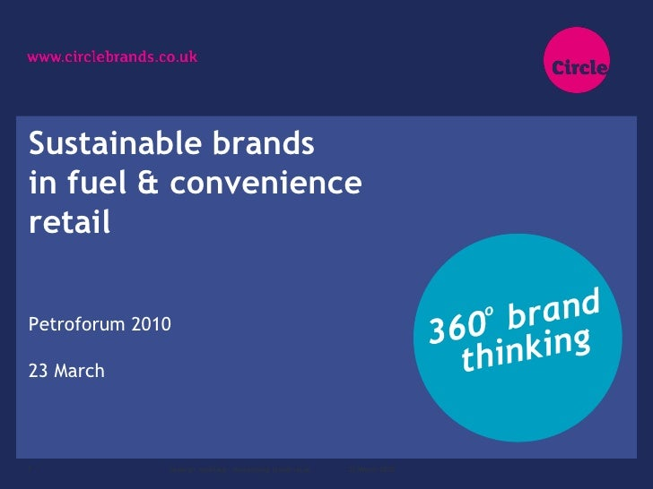 Sustainable brands in fuel & convenience retail