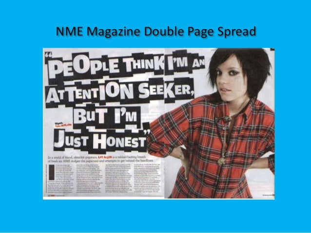 NME Magazine Double Page Spread