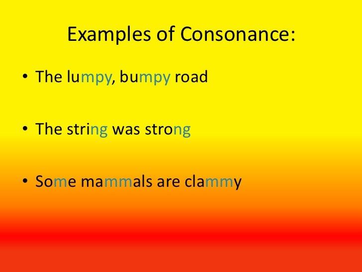 consonance examples