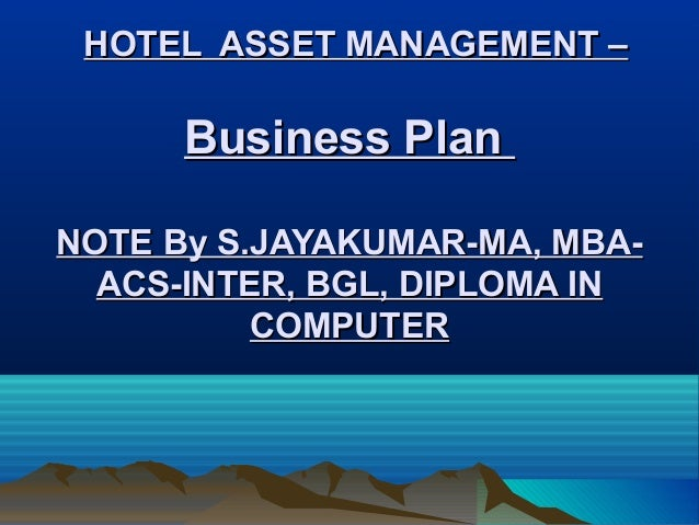 Investment management business plan