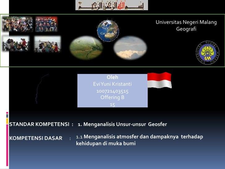 Universitas Negeri Malang                                                              Geografi                           ...