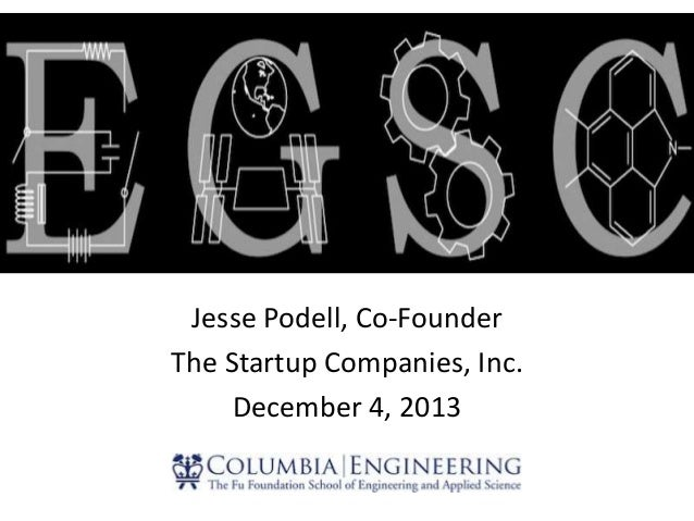 Jesse Podell, Co-Founder The Startup Companies, Inc. December 4, 2013