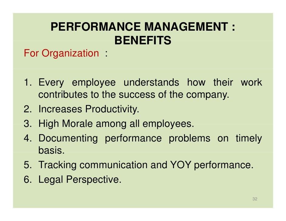 Essay on performance management