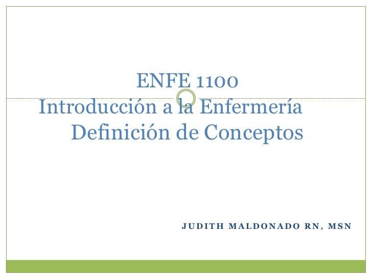 definicion de conceptos y terminos relacionados a la enfermería