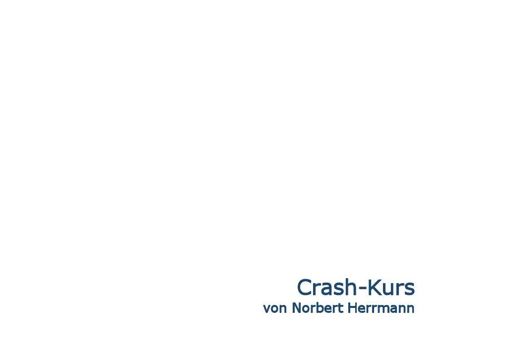 Crash-Kurs von A bis Z