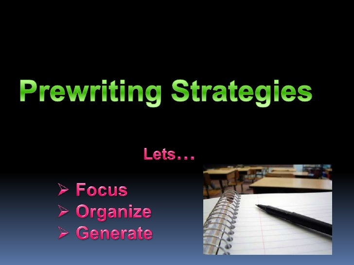 Prewriting Strategies<br />Lets…<br /><ul><li>Focus