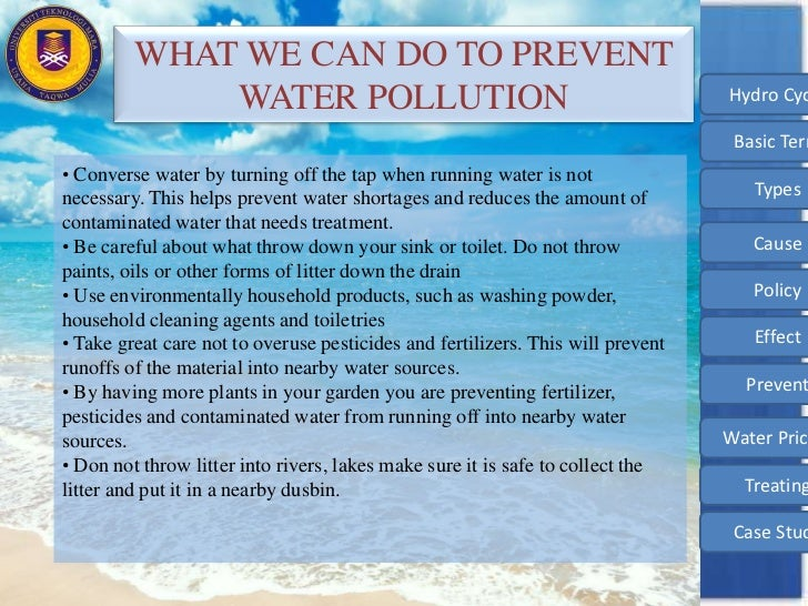 the need to immediately stop water pollution in the united states This is a video about water pollution that i made for a biology class presentation background music: kiss the rain - yiruma.
