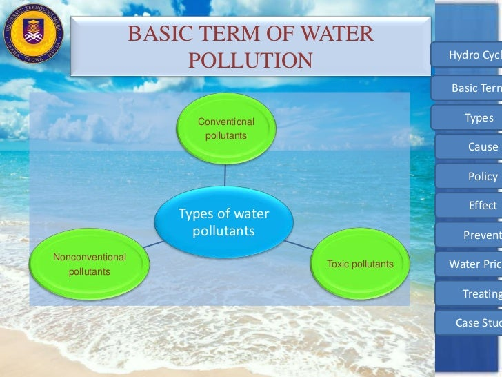 Types of water pollutants and their sources images for All types of water