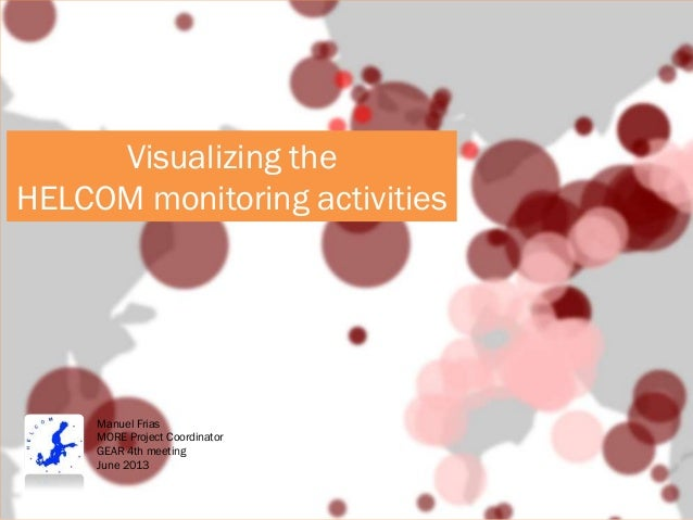 Visualizing HELCOM monitoring activities in the Baltic Sea