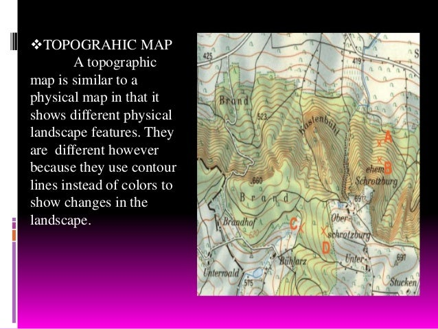 different kinds of maps pdf