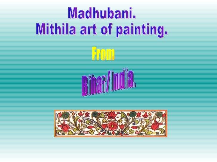 Madhubani. Mithila art of painting. From Bihar/India.
