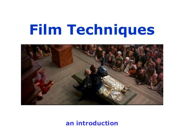 Film terms and techniques introduction
