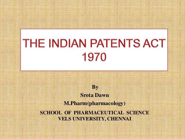SCHOOL OF PHARMACEUTICAL SCIENCE VELS UNIVERSITY, CHENNAI By Srota Dawn M.Pharm(pharmacology)