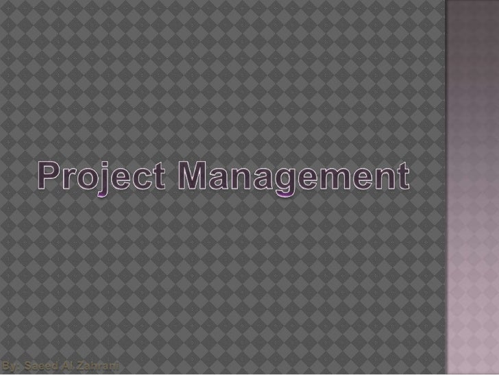  To explain the main tasks undertaken by project  managers To introduce software project management and to  describe its...
