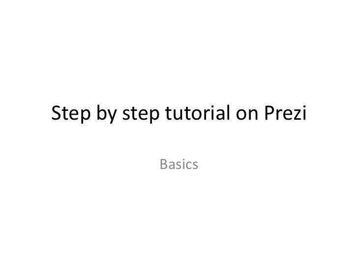 Step 3: The Beginner's Guide to Prezi
