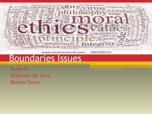 Boundaries Issues Team D February 18, 2014 Beatriz Zayas
