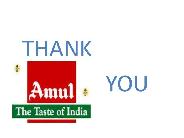project report on amul