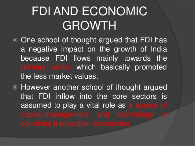How can I statistically analyze the role of FDI in economic growth?