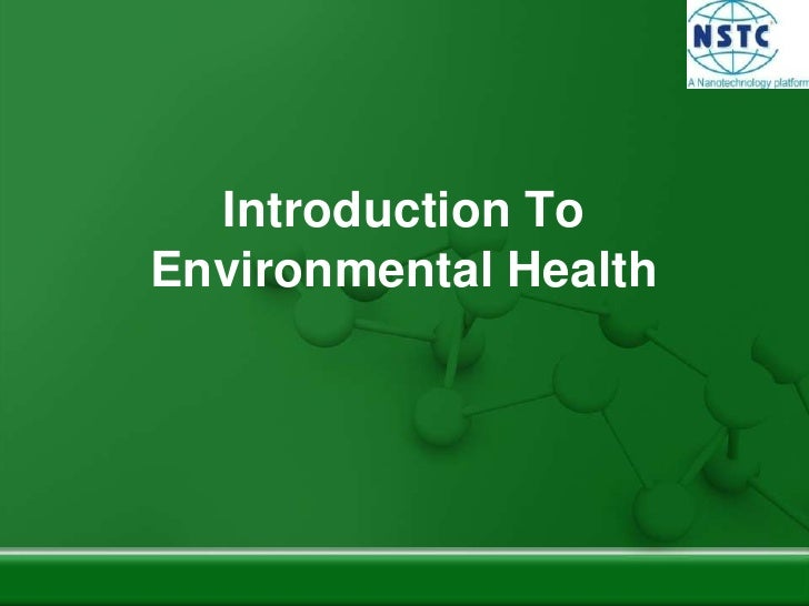 Introduction To Environmental Health<br />