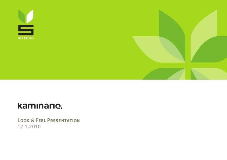 Kaminario - Look&Feel Presentation 2010