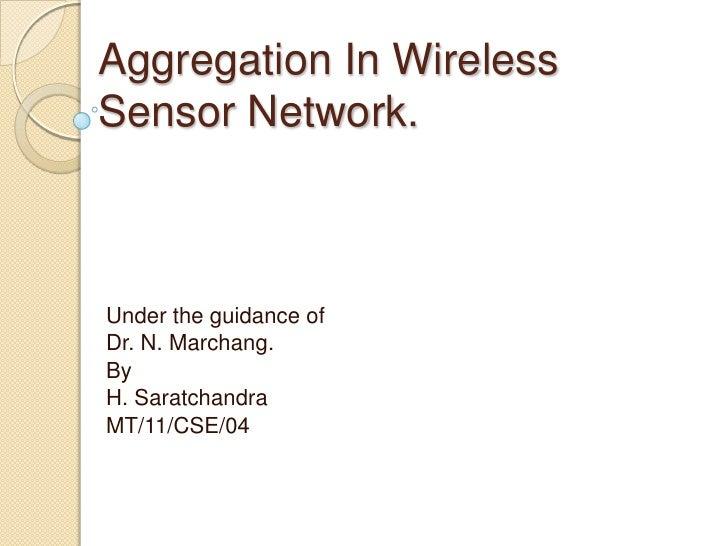 Presentation on sensor network