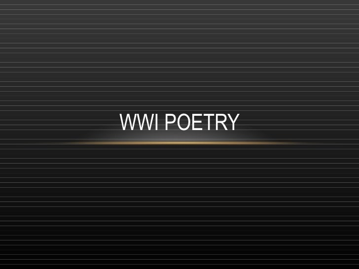 WWI Poetry