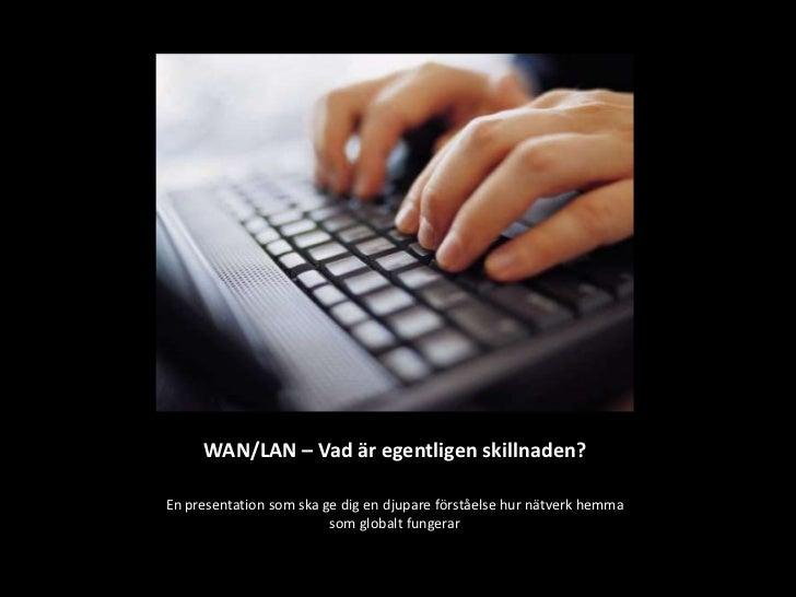 Presentation LAN/WAN