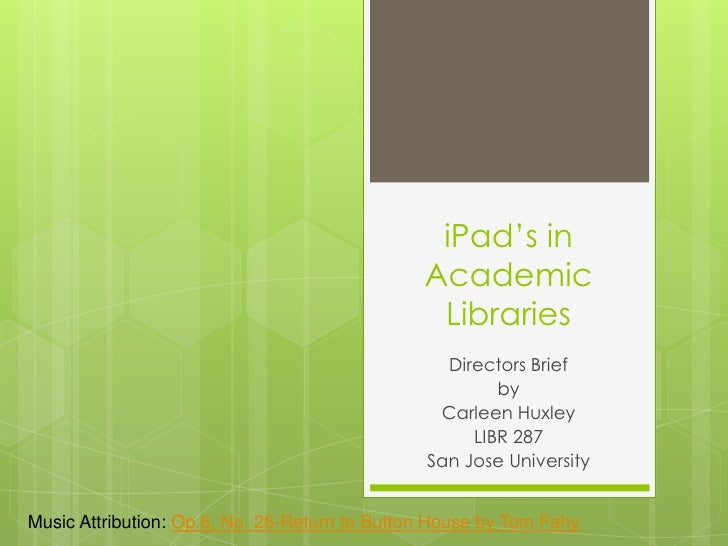 iPads in Academic Libraries