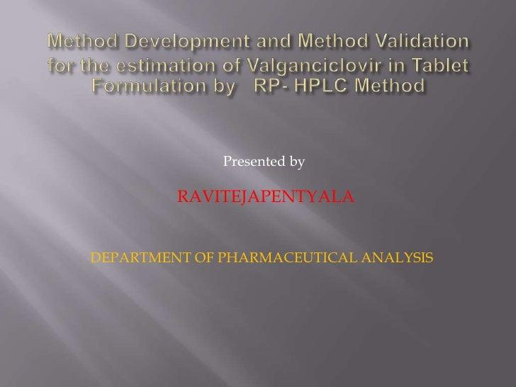 Presented by         RAVITEJAPENTYALADEPARTMENT OF PHARMACEUTICAL ANALYSIS