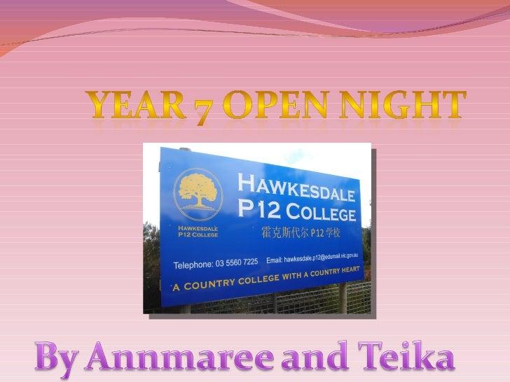 Year 7 Open Night