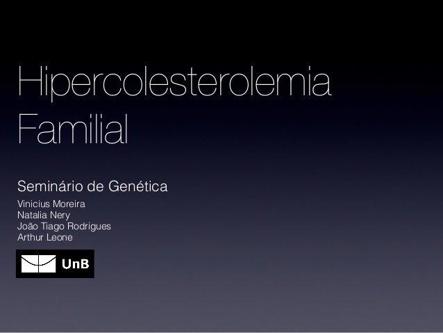 HipercolesterolemiaFamilialSeminário de GenéticaVinicius MoreiraNatalia NeryJoão Tiago RodriguesArthur Leone
