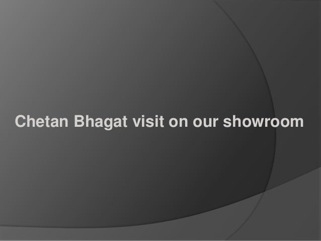 Chetan Bhagat visit on our showroom