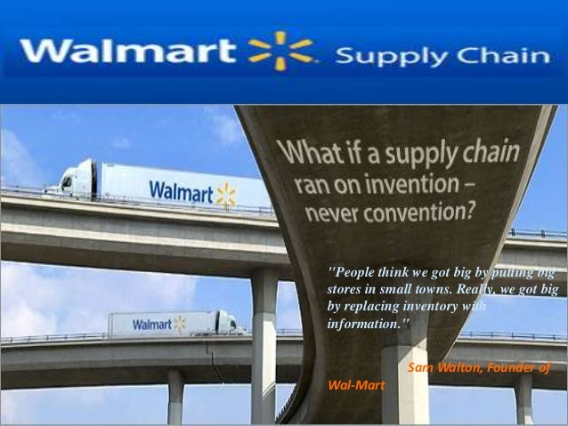 walmart supply chain management analysis Walmart's opportunity to change the game with suppliers  from a supply chain perspective, walmart's  whether you call it scenario based analysis,.