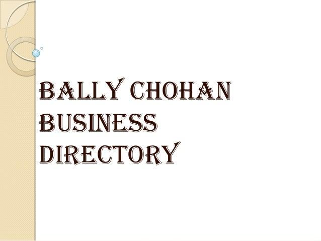 Bally Chohan Business Directory UK
