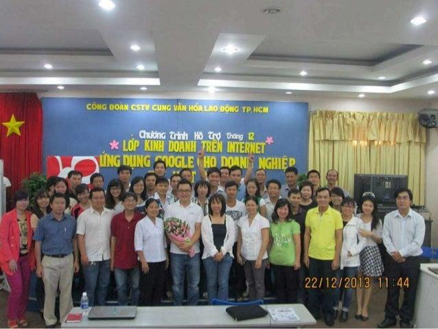 Chương trình hỗ trợ tháng 12/2013 : Ứng Dụng Google cho các doanh nghiệp tại Việt Nam