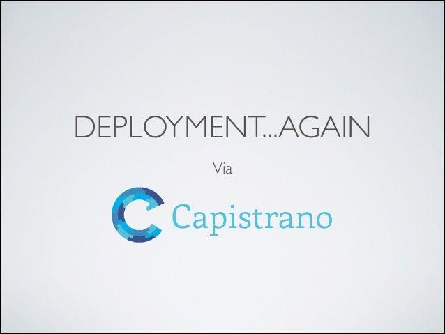 Deployment Via Capistrano