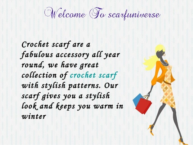 Crochet scarf patterns | scarfuniverse