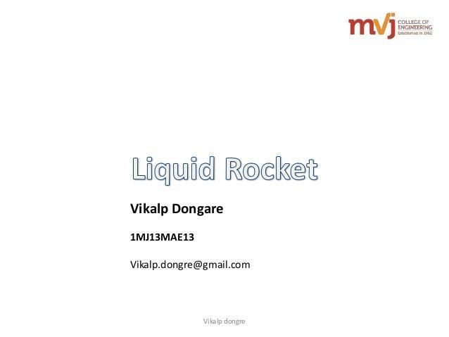 Vikalp dongre Vikalp Dongare 1MJ13MAE13 Vikalp.dongre@gmail.com