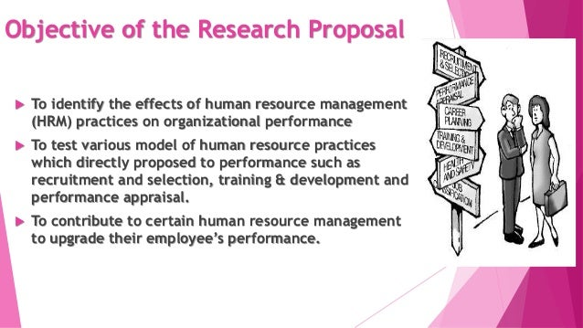 Human resource research proposal