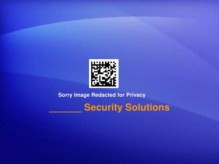 Sorry Image Redacted for Privacy<br />______ Security Solutions<br />