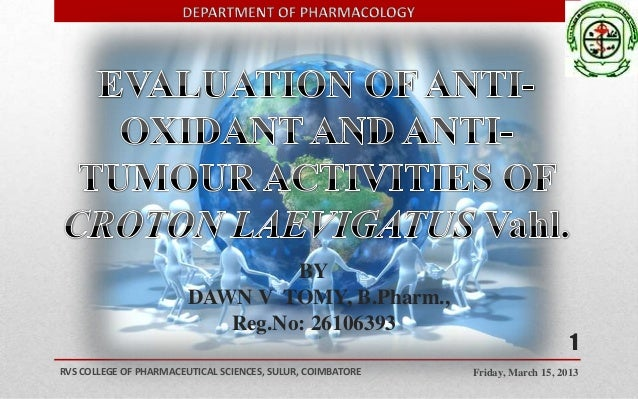 BY                        DAWN V TOMY, B.Pharm.,                           Reg.No: 26106393                               ...
