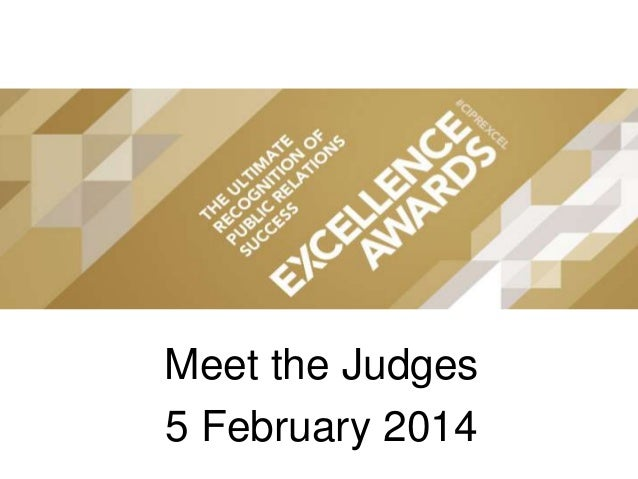 CIPR Excellence Awards 2014 - Meet the Judges Webinar